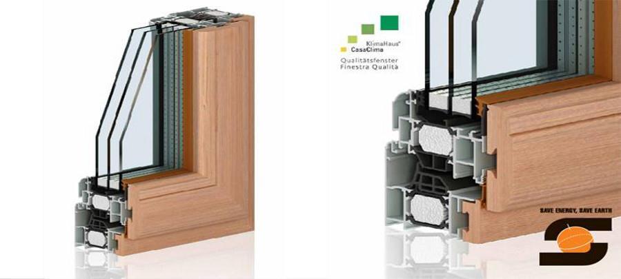 Infissi alluminio legno casaclima sw 80tt finestra - Finestre alluminio taglio termico fanno condensa ...